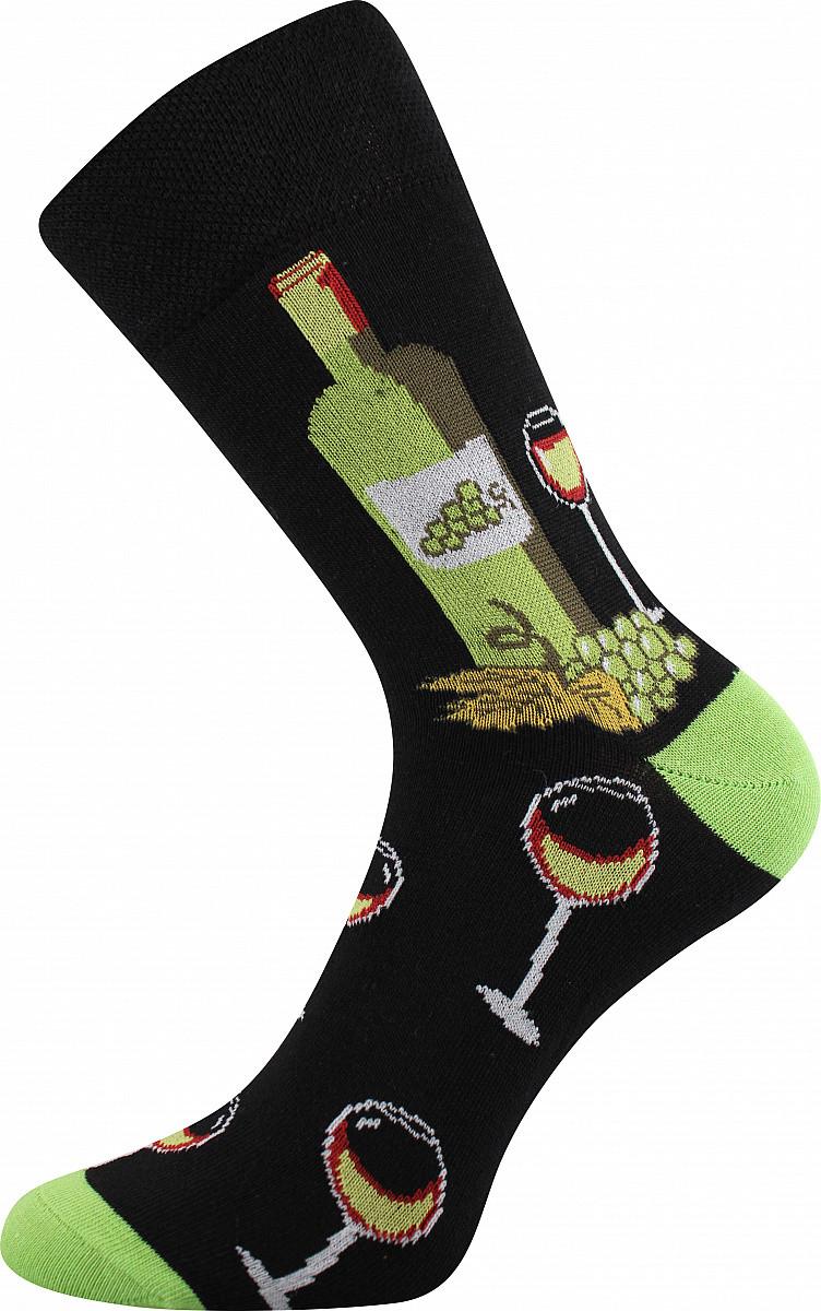 VoXX Barevné ponožky Vínoxx zelené - 35-38