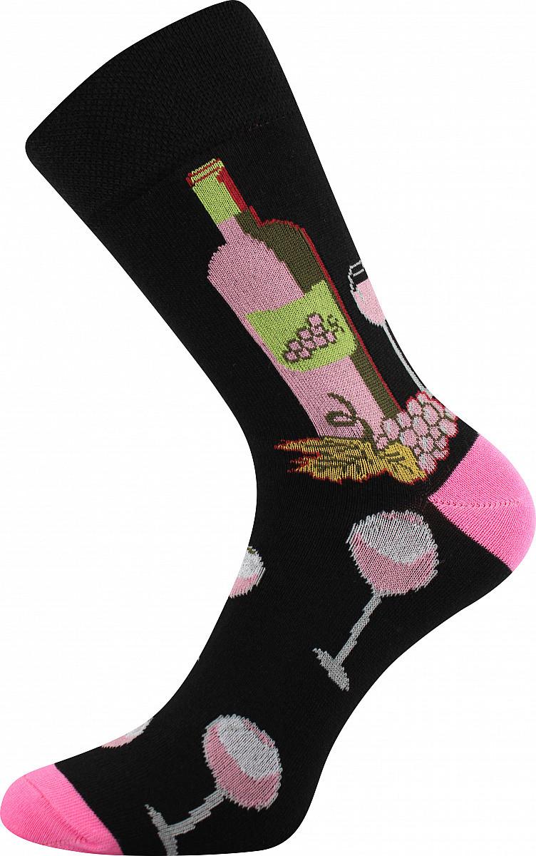 VoXX Barevné ponožky Vínoxx růžové - 35-38
