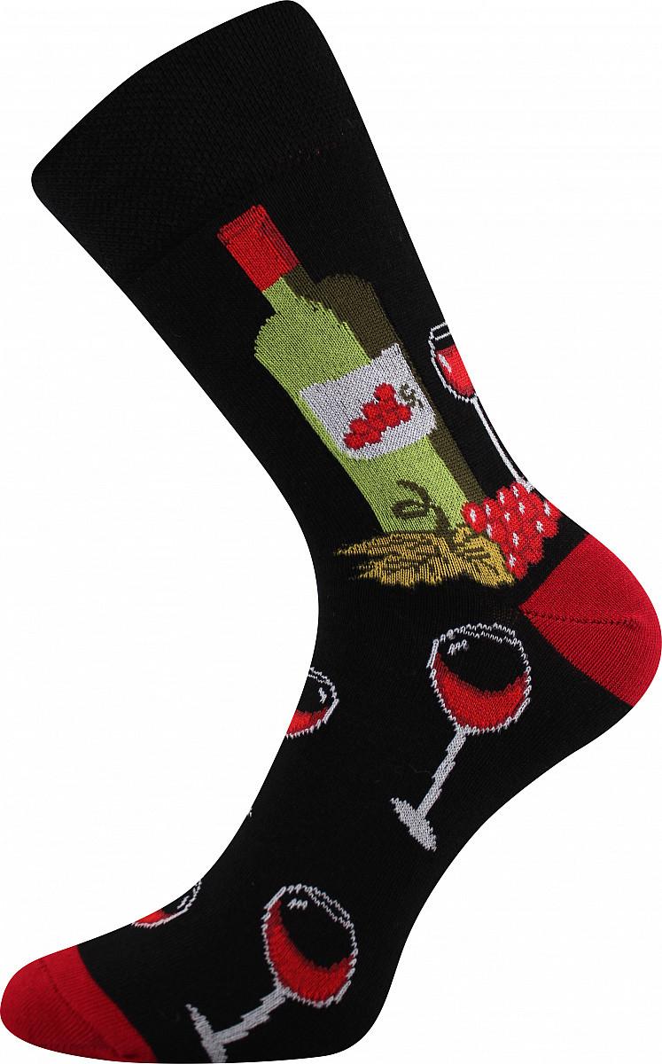 VoXX Barevné ponožky Vínoxx červené - 35-38